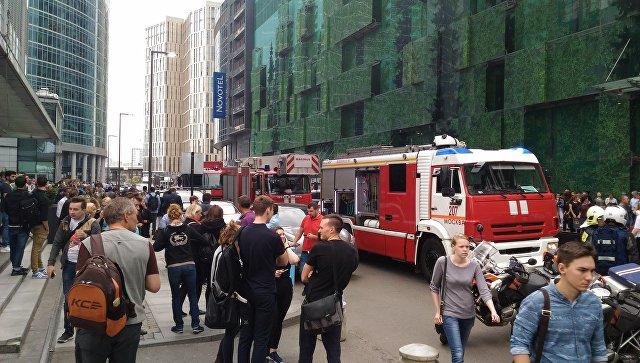 Эвакуация в Москве Архивное фото