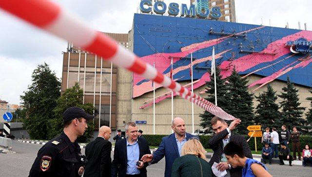 """В Москве эвакуировали гостиницу """"Космос"""" после анонимного звонка"""