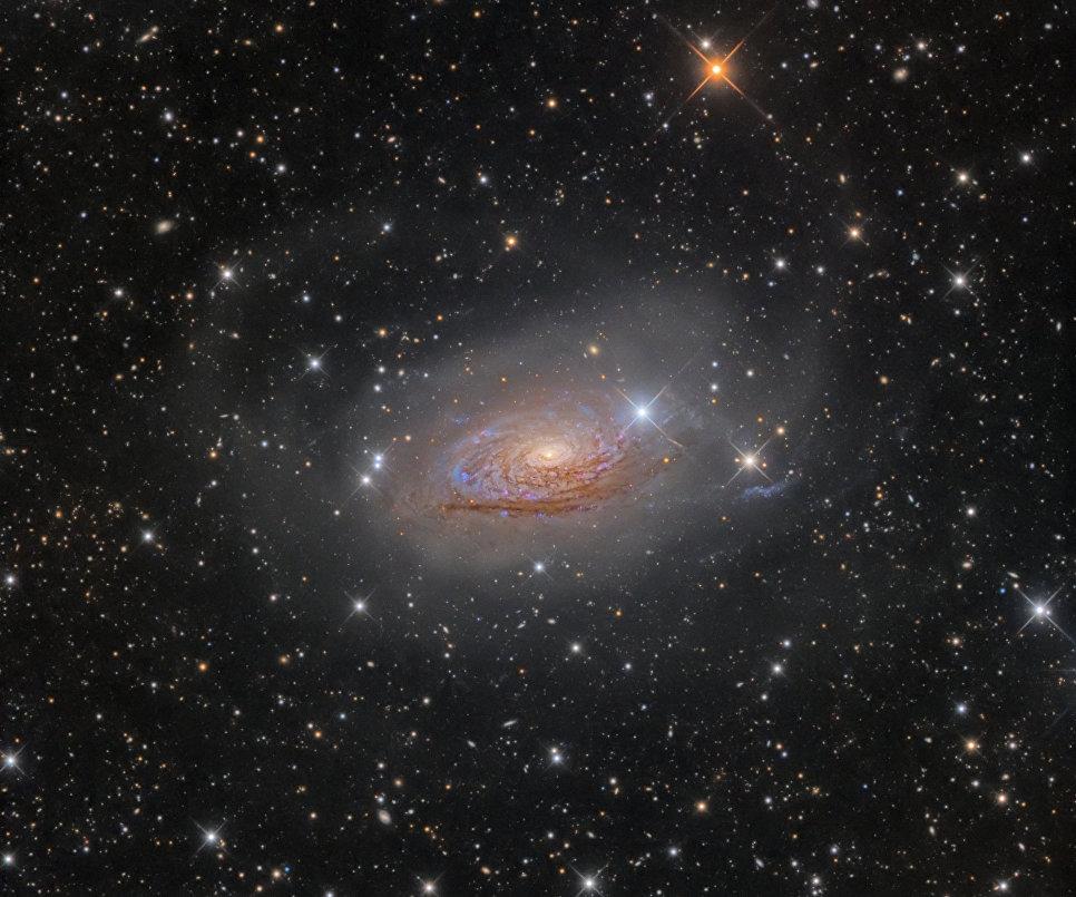 Снимок фотографа Олега Брызгалова из Украины M63 Star Streams and the Sunflower Galaxy, победивший в категории Галактики в фотоконкурсе Insight Astronomy Photographer of the Year 2017