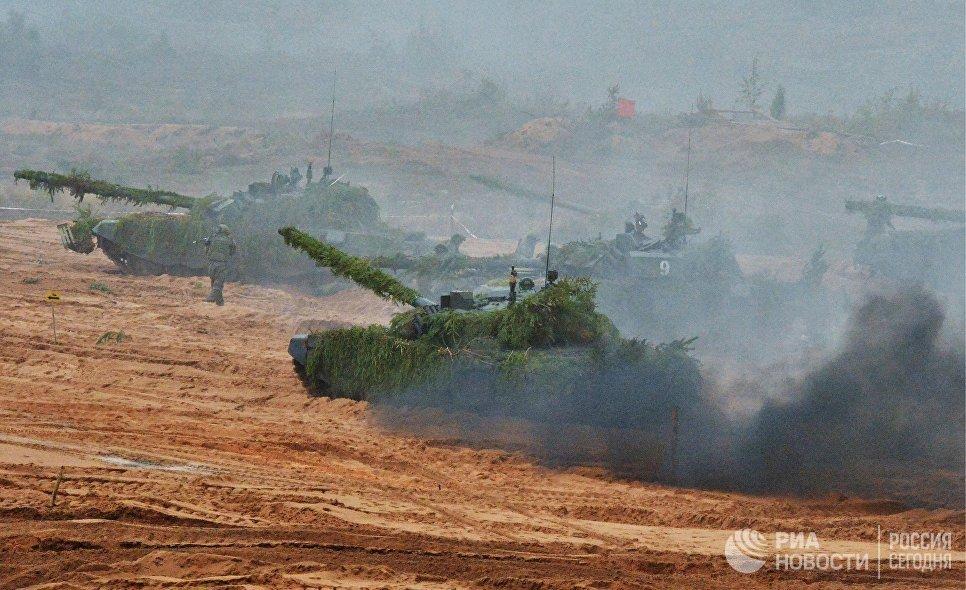 Военная техника во время совместных стратегических учений вооружённых сил России и Белоруссии Запад-2017
