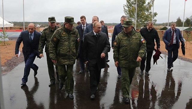 Рабочая поездка президента РФ Владимира Путина в Ленинградскую область. 18 сентября 2017
