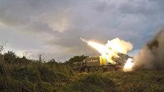 Ракетные пуски и операция ВДВ против боевиков на учениях Запад-2017