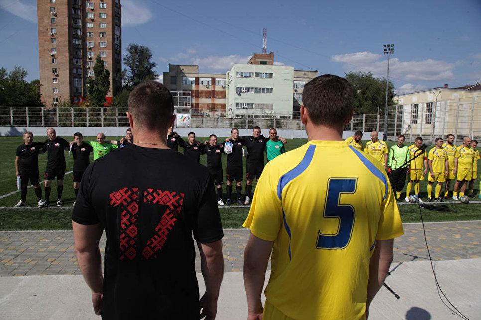 Товарищеский футбольный матчТерритория дружбы молодежи Беларуси и России