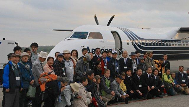 Первый чартерный рейс из Японии прибыл на южные Курилы
