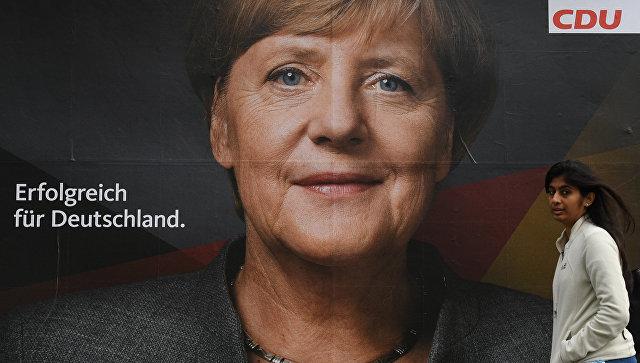 Альянс Меркель лидирует на выборах в бундестаг