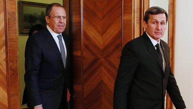 Лавров обсудил с главой МИД Туркмении двусторонние контакты