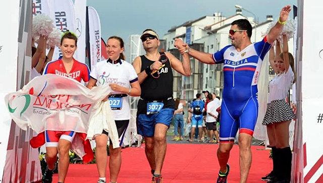 Незрячие спортсмены выступили на соревнованиях в Сочи