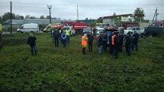 Ликвидация последствий столкновения автобуса и поезда на железнодорожном переезде во Владимирской области