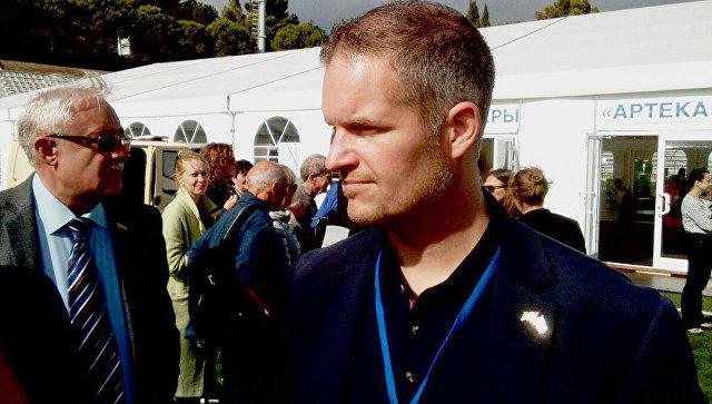 Глава прибывшей в Крым делегации Норвегии Хендрик Вебер. 6 октября 2017