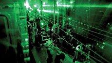 Часть экспериментальной установки, использованной для измерения размера протона