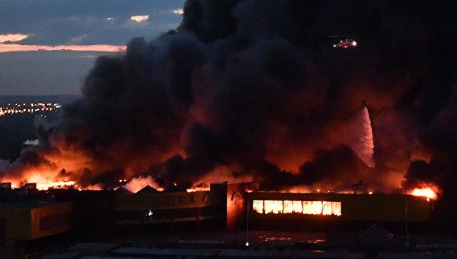 Пожар вмосковском коммерческом  центре «Синдика» локализован