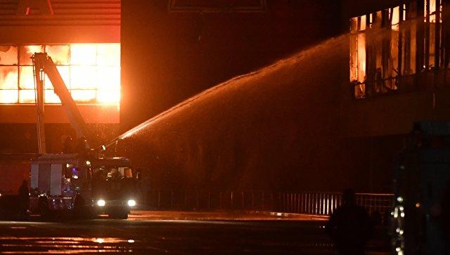 Превышения опасных веществ  ввоздухе после пожара вТЦ «Синдика» нет