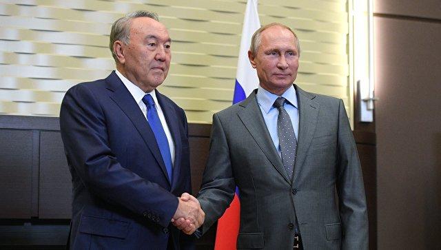 Владимир Путин и президент Казахстана Нурсултан Назарбаев. Архивное фото
