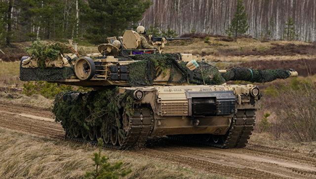 Танк M1 Abrams на международных военных учениях Summer Shield XIV в Латвии