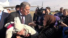 Вывезенных из Сирии и Ирака пятерых детей передали родственникам в Грозном