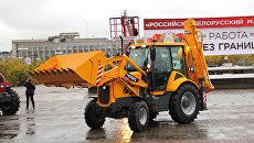 Показательные выступления на ЧЛМЗ в рамках запуска нового конвейера по производству тракторов