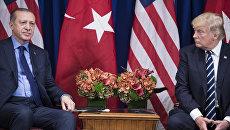Президент США Дональд Трамп и президент Турции Реджеп Тайип Эрдоган. Архивное фото