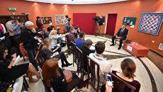Журналисты РФ и РБ на встрече с главой Вологодской области Олегом Кувшинниковым