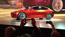 Автомобиль Tesla Motors Model 3. Архивное фото