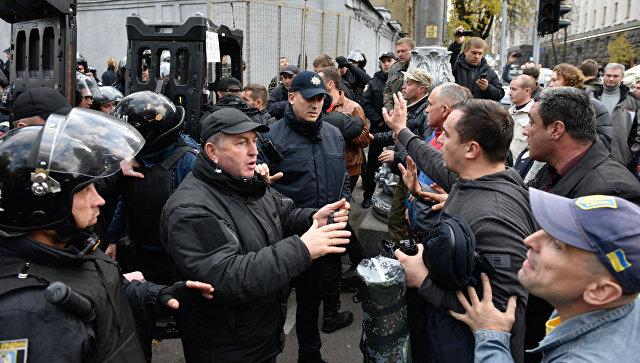 У здания Верховной рады усилили охрану из-за акции протеста