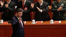 Си Цзиньпин на открытии 19-го съезда Коммунистической партии Китая. 18 октября 2017