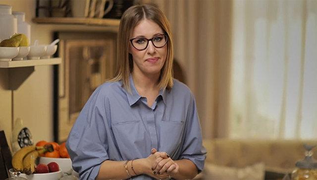 Стоп-кадр из видеоролика Ксении Собчак с заявлением об участии в выборах президента РФ