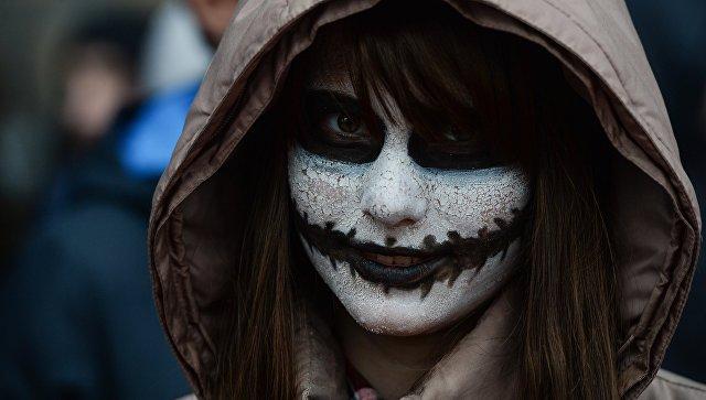 Участница флешмоба Зомби-парад. Архивное фото