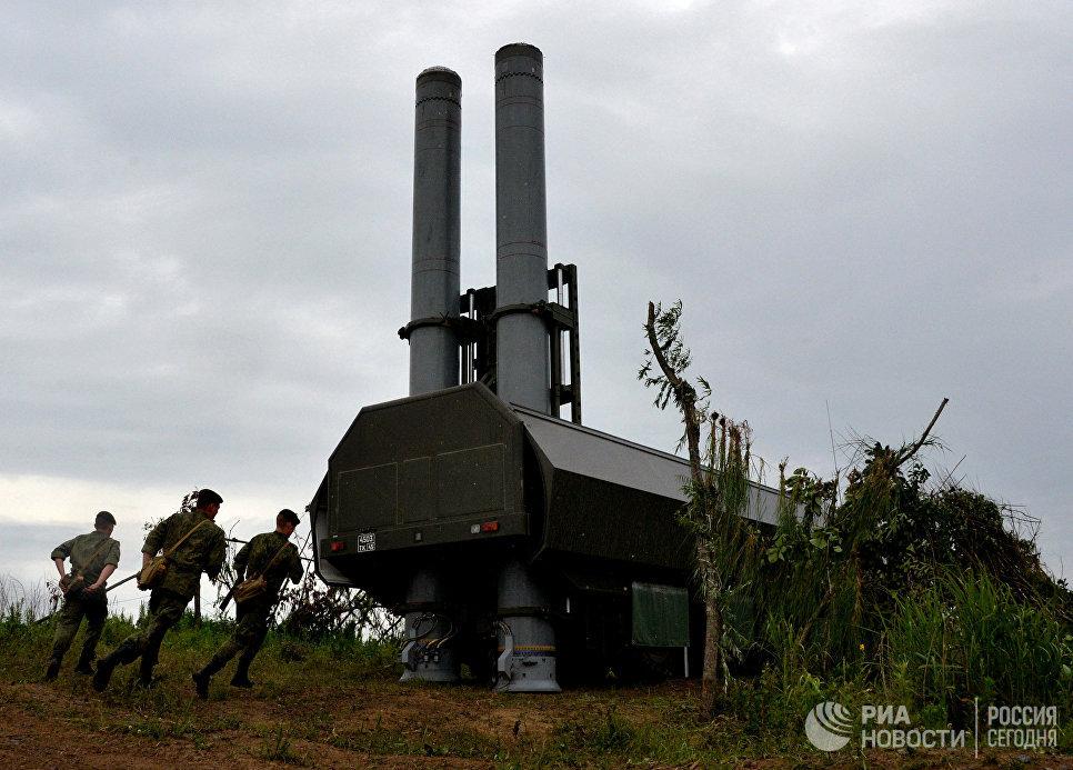 Новый береговой ракетный комплекс Бастион во время учений в Приморском крае