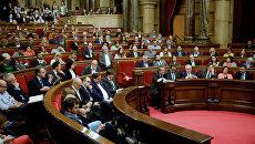 Заседание парламента Каталонии. 26 октября 2017