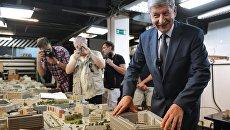 Руководитель Департамента градостроительной политики города Москвы Сергей Левкин на демонстрации макета Москвы