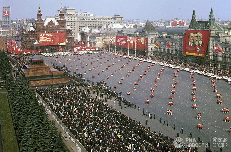 Парад физкультурников на Красной площади 1 мая