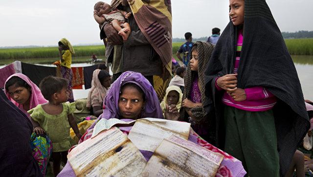 Беженка рохинджа просушивает документы в лагере беженцев в Палонге Хали, Бангладеш. Архивное фото