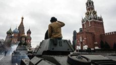 Репетиция парада на Красной площади. Архивное фото