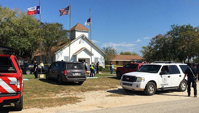 Ситуация у церкви в Сатерленд Спрингс, Техас. 5 ноября 2017