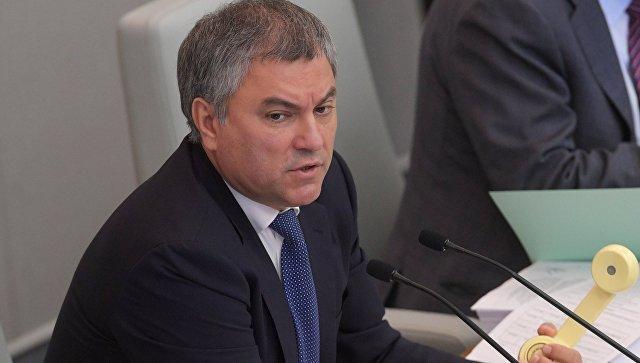 Вячеслав Володин на пленарном заседании Государственной Думы. Архивное фото