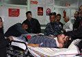 Пострадавшие в иракской больнице после землетрясения в Иране. 12.11.2017