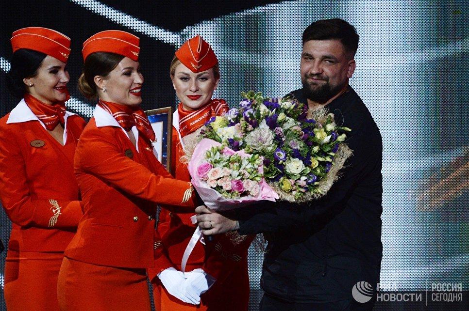 Рэп-исполнитель Баста (Василий Вакуленко) на XXII церемонии вручения музыкальной премии Золотой Граммофон в Государственном Кремлёвском Дворце