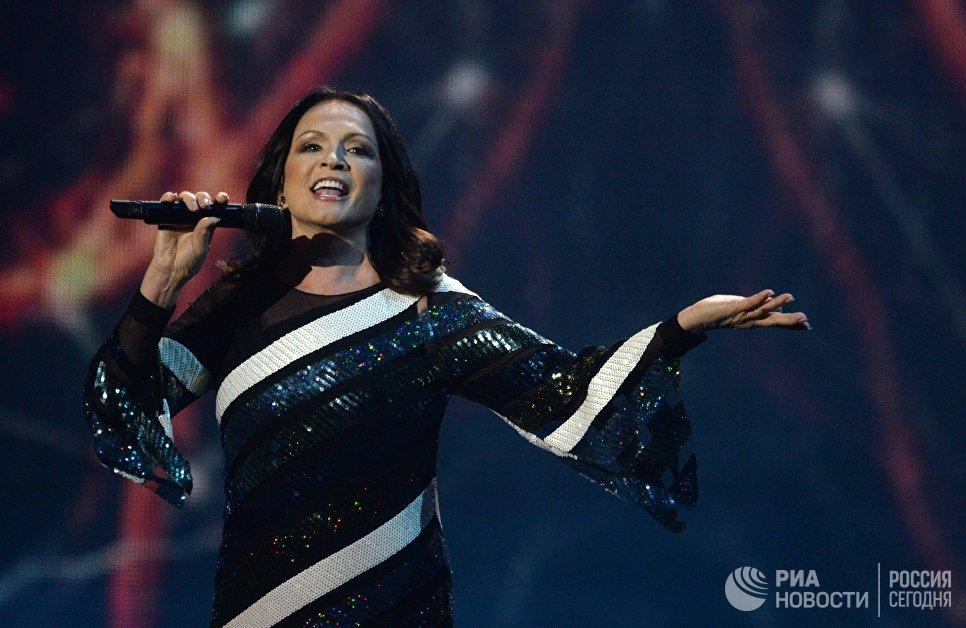 Певица София Ротару на XXII церемонии вручения музыкальной премии Золотой Граммофон