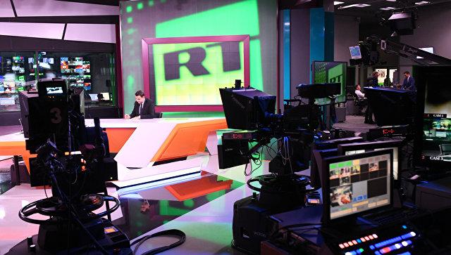 Студия телеканала RT в Москве. Архивное фото