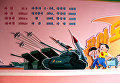 Плакат в северокорейском детском доме