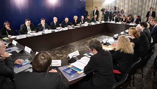 Президент РФ Владимир Путин проводит совещание по вопросам выявления, поддержки и профессиональной подготовки талантливой молодежи в сфере искусства. 17 ноября 2017