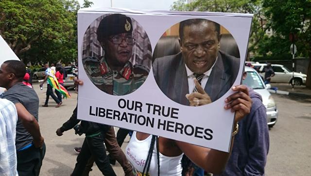 """""""Бай-бай, Мугабе"""": участники марша в Зимбабве ждут отставки президента"""