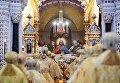 Литургия в храме Христа Спасителя