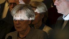 Канцлер Германии Ангела Меркель во время объявления результатов переговоров о формировании новой коалиции. 20 ноября 2017