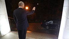 Президент РФ Владимир Путин после встречи с президентом Сирии Башаром Асадом