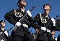Военнослужащие отдельной гвардейской бригады береговых войск Балтийского флота во время парада, посвященного 68-й годовщине Победы в Великой Отечественной войне, на Красной площади