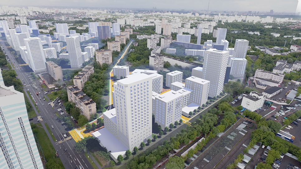 Концепция площадки реновации в Головинском районе от бюро Меганом