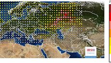 Карта обнаружения рутения в Европе, составленная Институтом ядерной и радиационной безопасности Франции