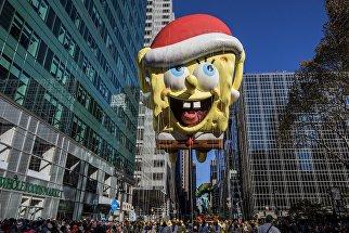 Ежегодный парад Мэйси в честь Дня благодарения в Нью-Йорке