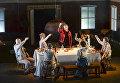 Актеры ирландской театральной труппы Dead Centre во время репетиции спектакля Первая пьеса Чехова на новой сцене Александринского театра в Санкт-Петербурге